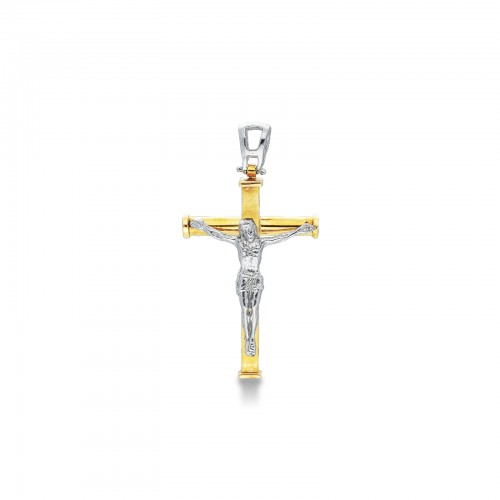 Pendant 18k White Gold, Gold with Christ