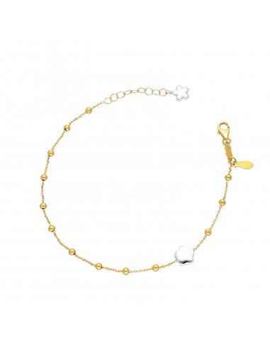 Bracelet 18k Gold with flower