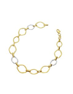 Bracelet 18k White Gold, Gold cm 20