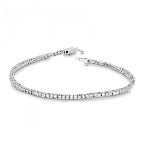 Bracelet 18k White Gold with Zircon