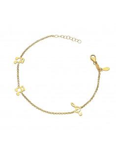 Bracelet 18k Gold with musical notes