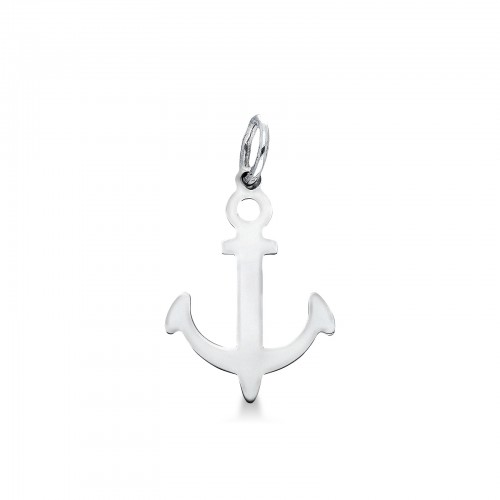 Pendant 18k White Gold with Anchor