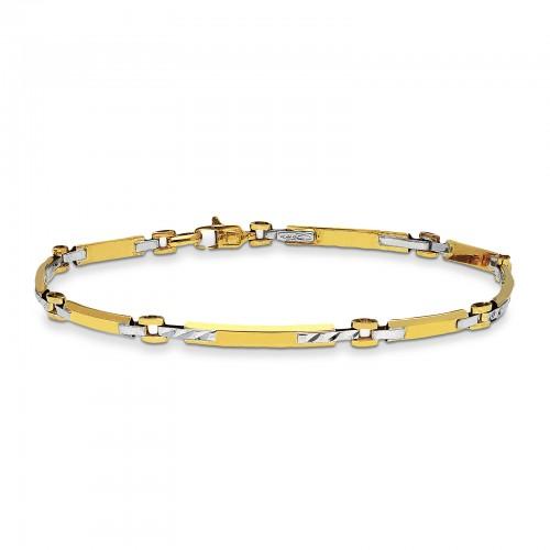 Bracelet 18k White Gold, Gold with small bars