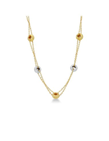 Necklace 18k White Gold, Gold with wheels