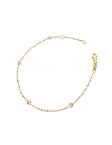 Bracelet 18k Gold with Zircon