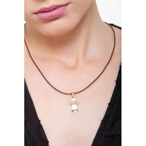 Pendant 18k White Gold, Gold, Rose Gold with Boy