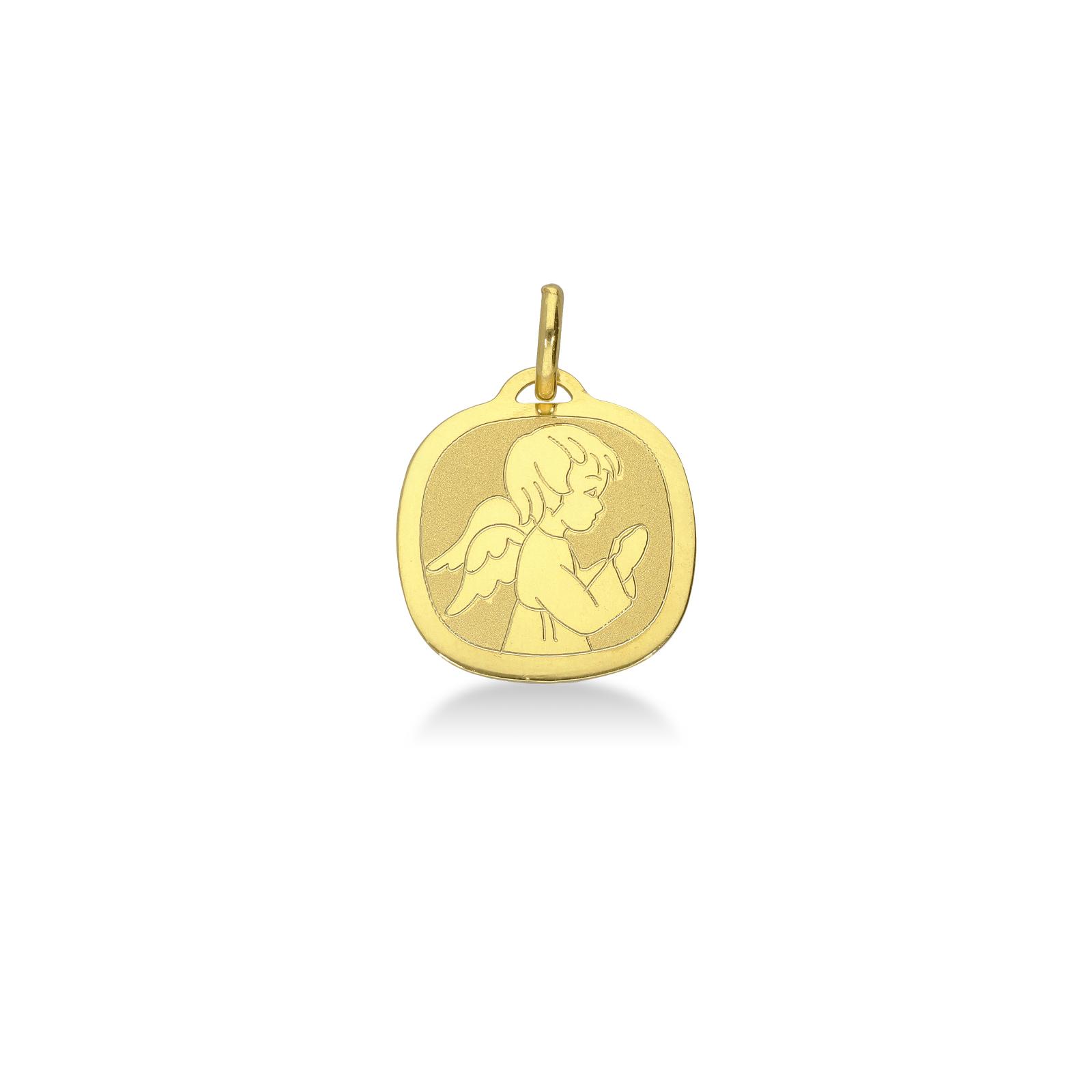 Medaglia angioletto in oro giallo 18kt