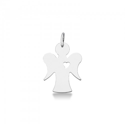 Pendant 18k White Gold with Angel