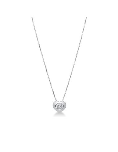 Necklace 18k White Gold with Zircon