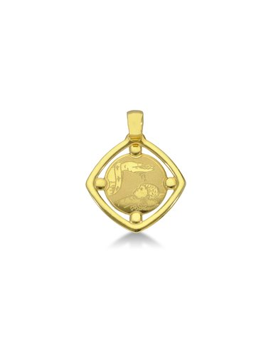 Pendant 18k Gold with baptism