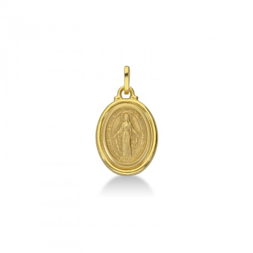 Pendant 18k Gold with Madonna