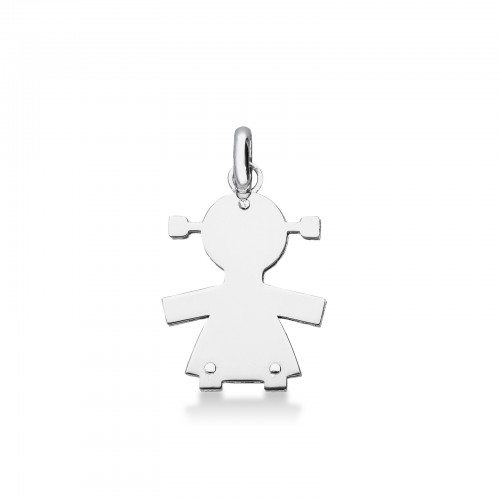 Pendant 18k White Gold with baby silhouette