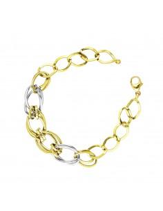 Bracelet 18k White Gold, Gold with Groumette