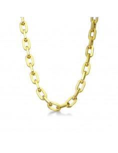 Collana a maglia catena vuota in oro giallo 18kt