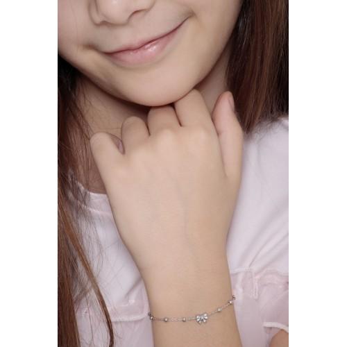 Bracelet 18k White Gold with bow