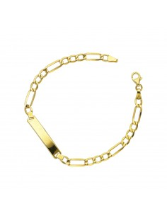 Bracelet 18k Gold with incidable plate