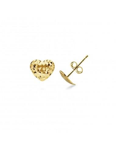 Earrings 18k Gold with Heart