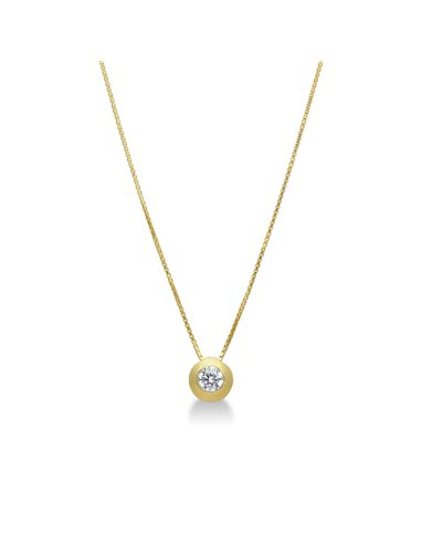 Necklace 18k Gold with Zircon