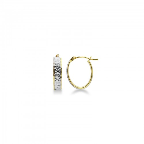 Earrings 18k White Gold, Gold with Ovals
