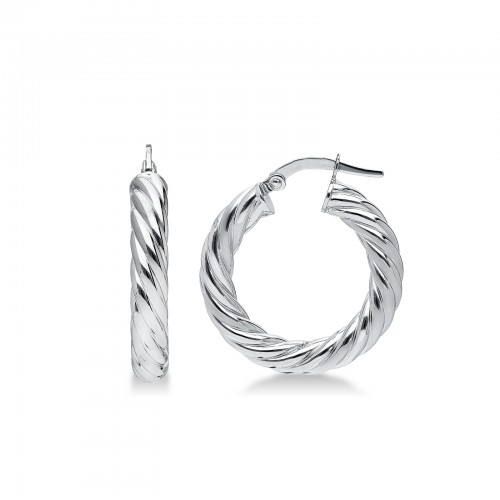 Earrings 18k White Gold with round elements