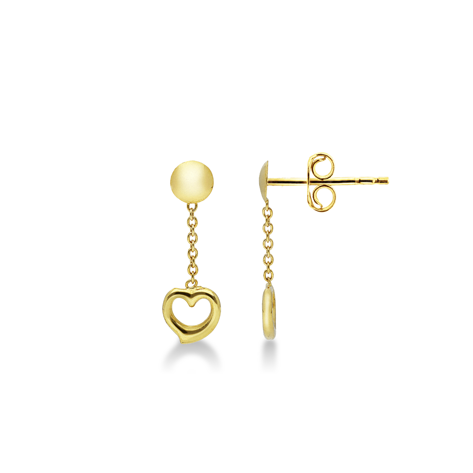 Earrings 18k Gold with Hearts