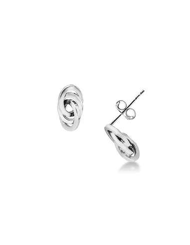 Earrings 18k White Gold with plots