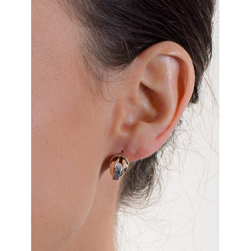 Earrings 18k White Gold, Gold, Rose Gold with plots