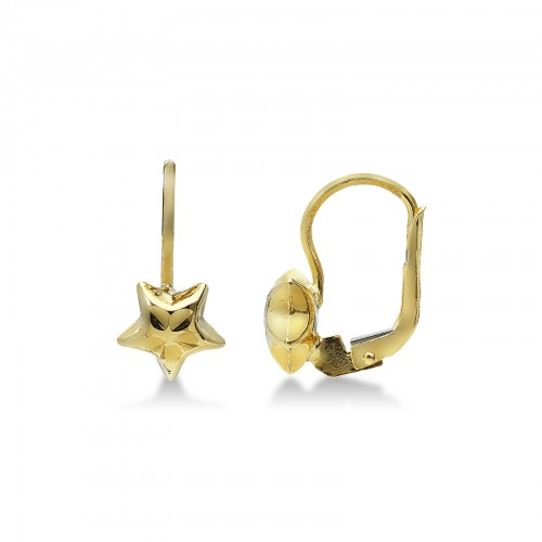 Earrings 18k Gold with Star