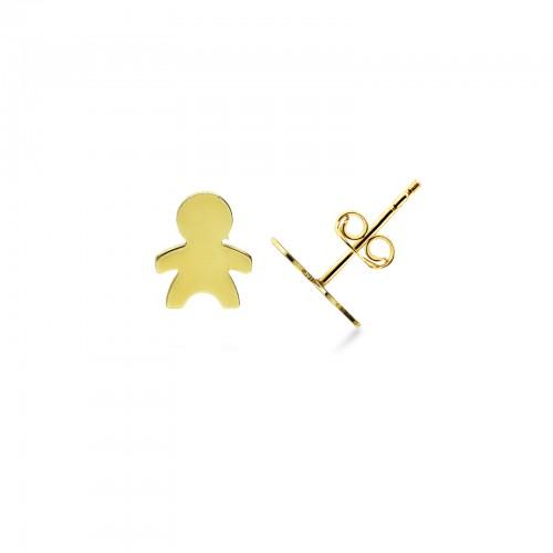Earrings 18k Gold with Boy
