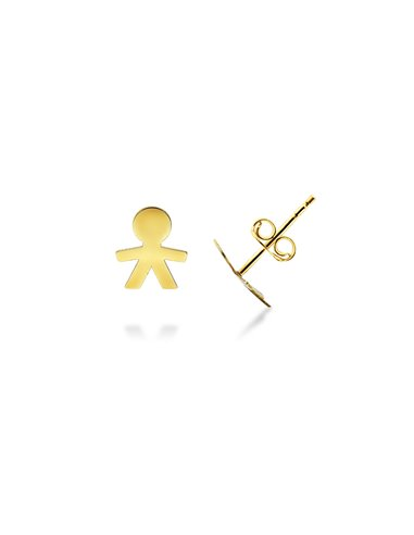 Earrings 18k Gold with baby silhouette