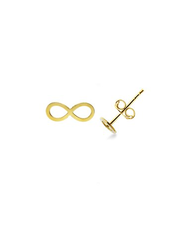Earrings 18k Gold with infinity