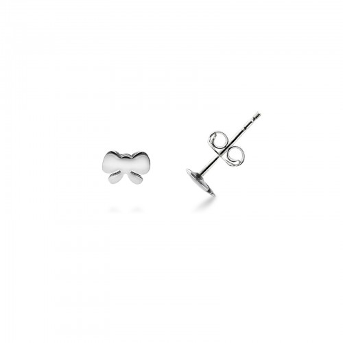 Earrings 18k White Gold with bow