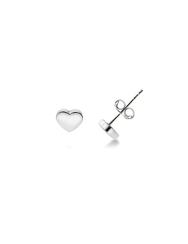 Earrings 18k White Gold with Hearts