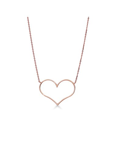 Necklace 18k Rose Gold with Heart