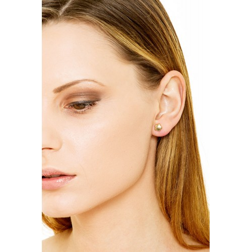 Earrings 18k Gold with flower