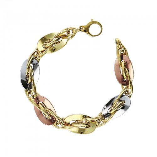 Bracelet 18k White Gold, Gold, Rose Gold with ovals