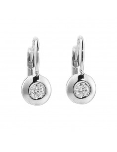 Solitaire Earrings 18k White Gold with Diamond