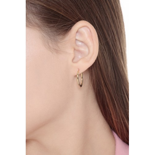 Earrings 18k Gold with round elements
