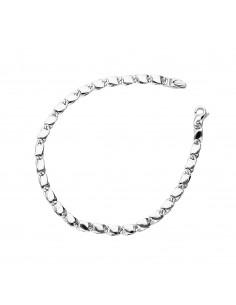 Bracelet 18k White Gold with segments