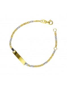 Bracciale in oro bianco e giallo 18k cm 14,5
