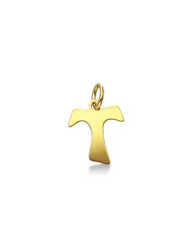 Pendant 18k Gold with crucifix Tao