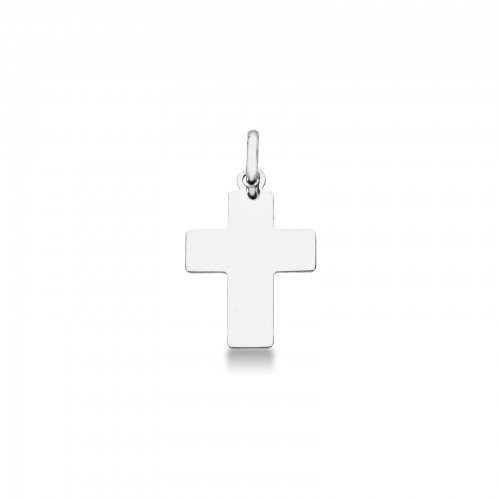 Pendant 18k White Gold with crucifix