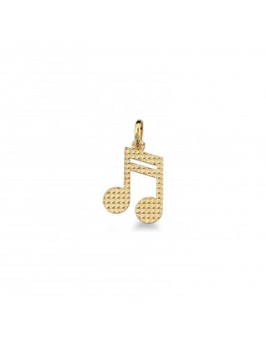 Ciondolo nota musicale in oro giallo 18k