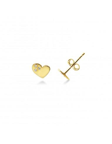 Earrings 18k Gold with Zircon
