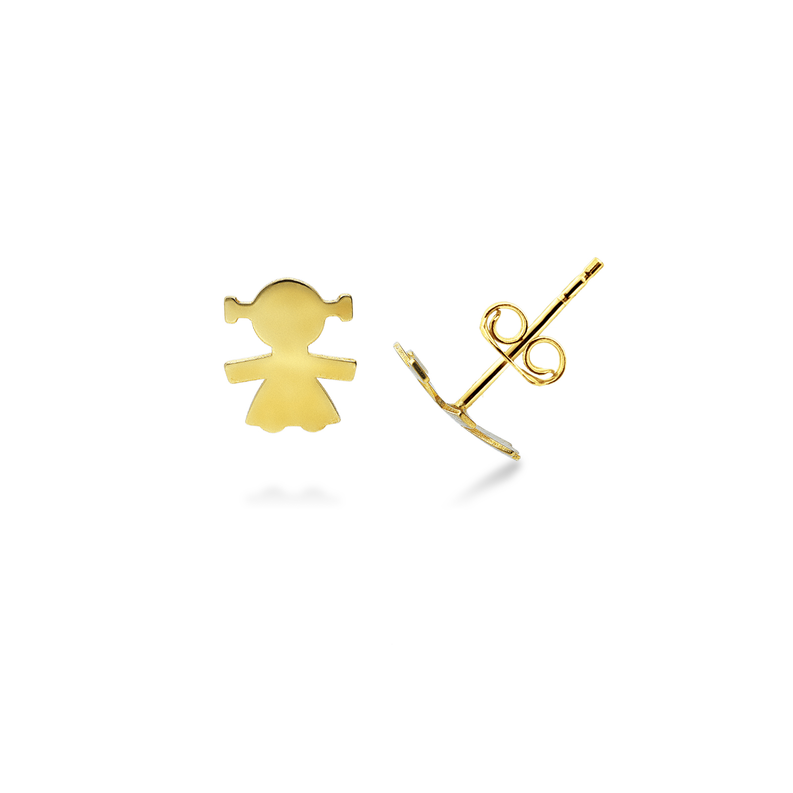 Earrings 18k Gold with Girl