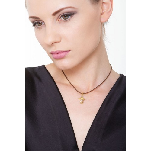 Pendant 18k White Gold, Gold, Rose Gold with Girl
