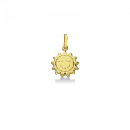 Pendant 18k Gold with Sun