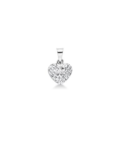 Pendant 18k White Gold with Heart