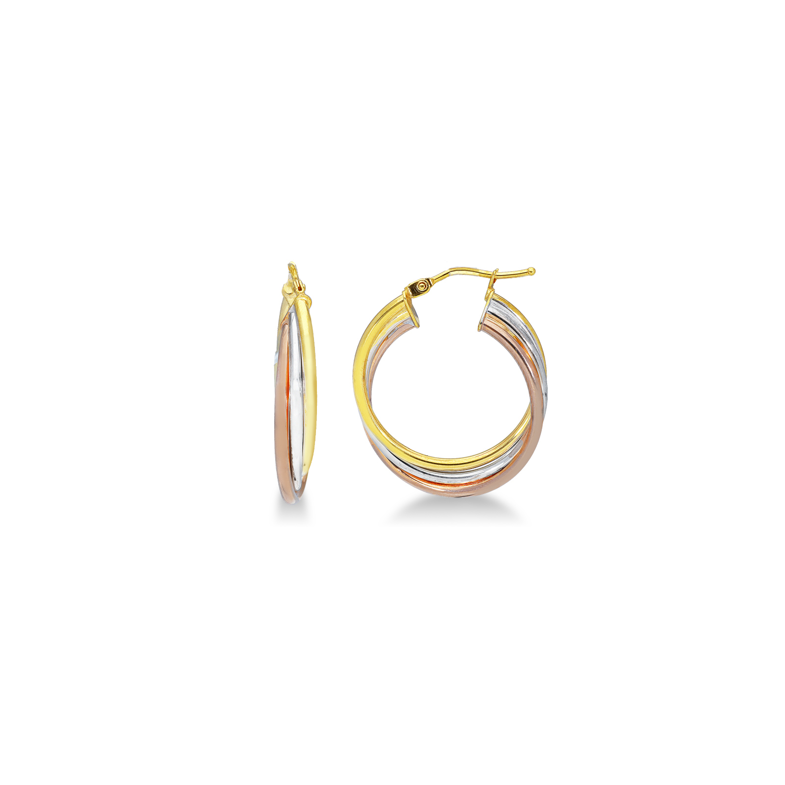 Earrings 18k White Gold, Gold, Rose Gold with round elements