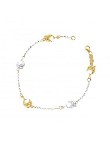 Bracelet 18k White Gold, Gold with Animals